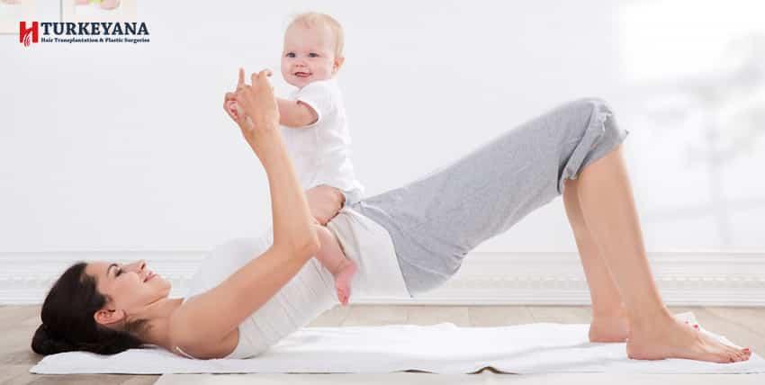 هل تمارين شد البطن بعد الولادة مفيدة.